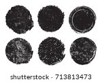 set of grunge post stamps... | Shutterstock .eps vector #713813473