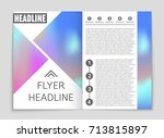 abstract vector layout... | Shutterstock .eps vector #713815897