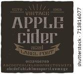 vintage label typeface named ... | Shutterstock .eps vector #713816077