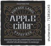 vintage label typeface named ... | Shutterstock .eps vector #713816143