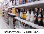 wine liquor bottles and alcohol ...   Shutterstock . vector #713816323