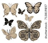 set of different forms... | Shutterstock .eps vector #713819857