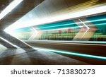 empty asphalt road tunnel... | Shutterstock . vector #713830273