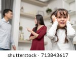 domestic violence and family... | Shutterstock . vector #713843617