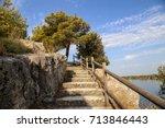 kanal von st. anthony   ibenik  ... | Shutterstock . vector #713846443