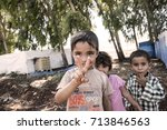 syrian people in unofficial... | Shutterstock . vector #713846563