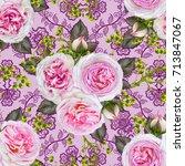 floral seamless pattern. flower ...   Shutterstock . vector #713847067