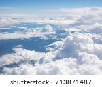 Blue Sky With The Clouds From...