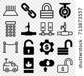 system icons set. set of 16... | Shutterstock .eps vector #713873557