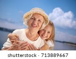 Portrait Of Happy Grandmother...