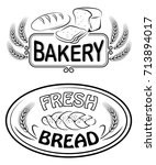 labels and signs for bakery and ...   Shutterstock .eps vector #713894017
