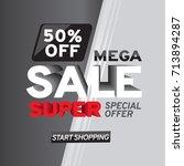 sale banner template design.... | Shutterstock .eps vector #713894287