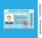 car driver license... | Shutterstock .eps vector #713905933