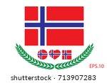 norway flag vector illustration....   Shutterstock .eps vector #713907283