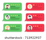 review rating bubble speeches.... | Shutterstock .eps vector #713922937
