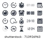 time clock icons | Shutterstock .eps vector #713926963