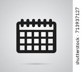 isolated calendar icon symbol... | Shutterstock .eps vector #713937127