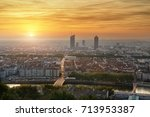 view of the city of lyon from... | Shutterstock . vector #713953387