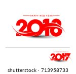 happy new year 2018   2017 text ... | Shutterstock .eps vector #713958733