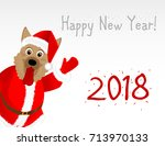 new year's card in the year of... | Shutterstock .eps vector #713970133