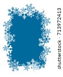 christmas background with frame ...   Shutterstock .eps vector #713972413