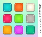 colorful square buttons set....