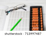 mental arithmetic blurred... | Shutterstock . vector #713997487