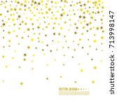 falling gold stars. abstract... | Shutterstock .eps vector #713998147