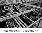 factory with pipes  | Shutterstock . vector #713998777