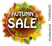 autumn sale card with colorful... | Shutterstock .eps vector #714004633