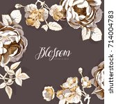 branding invitation card with a ... | Shutterstock .eps vector #714004783