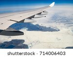 aerial views of greenland from... | Shutterstock . vector #714006403