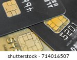 close up of a credit card with... | Shutterstock . vector #714016507