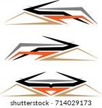 vehicle graphics  stripe  ... | Shutterstock .eps vector #714029173