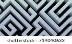 abstract minimal geometric... | Shutterstock .eps vector #714040633