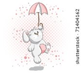cute rabbit   pink details | Shutterstock .eps vector #71404162