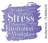 conceptual mental stress at... | Shutterstock . vector #714046153