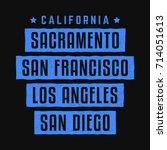 california. los angeles.... | Shutterstock .eps vector #714051613