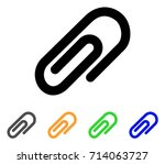 paperclip icon. vector... | Shutterstock .eps vector #714063727