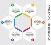 vector infographics. template... | Shutterstock .eps vector #714084637