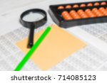 mental arithmetic blurred... | Shutterstock . vector #714085123