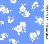 flower illustration pattern | Shutterstock .eps vector #714101323