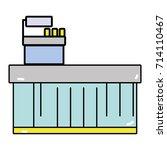 cash register technology to... | Shutterstock .eps vector #714110467