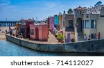 capitola  california  usa  ... | Shutterstock . vector #714112027