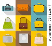 bags for all occasions icon set