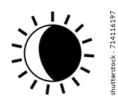 contour nice sun light ray... | Shutterstock .eps vector #714116197
