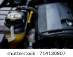 the engine of the machine close ... | Shutterstock . vector #714130807