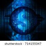 dollar money business finance ... | Shutterstock . vector #714155347
