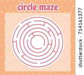 circle maze  labyrinth for kids ... | Shutterstock .eps vector #714161377