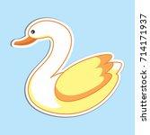 swan sticker vector... | Shutterstock .eps vector #714171937